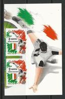 """ITALIA  2019 -  """" Juventus """" Campioni D' Italia 2018 / 2019 - COPPIA Da FOGLIETTO Di 8 Valori Nuovo ** - Adesivi - 2011-...:  Nuevos"""