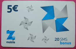Kosovo Prepaid Phonecard, 5 Euro. Operator ZMOBILE, *WINDMILL*, Serial # 16...... - Kosovo