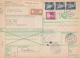 Paketkarte Punderich - Hoogerheide (Niederlande) Franc De Taxes Et De Droits 12/12/1984 - Brieven En Documenten