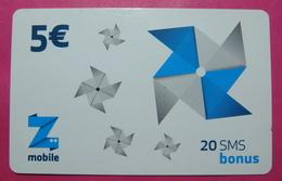 Kosovo Prepaid Phonecard, 5 Euro. Operator ZMOBILE, *WINDMILL*, Serial # 60...... - Kosovo