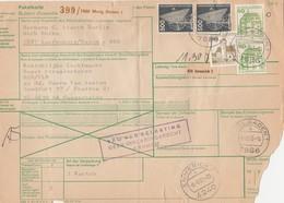 Paketkarte Murg BADEN  - Hoogerheide (Niederlande) VRIJ VAN BELASTING  8/9/1983 - Brieven En Documenten