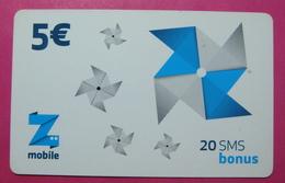 Kosovo Prepaid Phonecard, 5 Euro. Operator ZMOBILE *WINDMILL*, Serial # 82...... - Kosovo