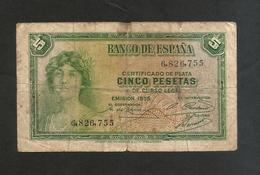 SPAGNA / SPAIN - 5 Pesetas (1935) - [ 2] 1931-1936 : Republiek