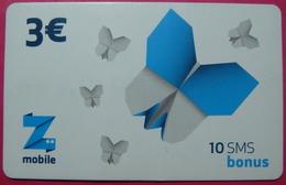 Kosovo Prepaid Phonecard, 3 Euro. Operator ZMOBILE *Butterfly*, Serial # 03...... - Kosovo