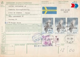 Bulletin D'Expedition Storviki (Zweden)-Hoogerheid (NL) Par Avion Eurocolis 19/6/1986 - Zweden