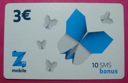 Kosovo Prepaid Phonecard, 3 Euro. Operator ZMOBILE *Butterfly*, Serial # 27...... - Kosovo