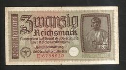 DEUTSCHLAND / GERMANY - 20 REICHSMARK (1940 -  1945) - WWII - [ 4] 1933-1945 : Terzo  Reich