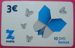Kosovo Prepaid Phonecard, 3 Euro. Operator ZMOBILE *Butterfly*, Serial # 3....... - Kosovo