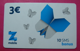 Kosovo Prepaid Phonecard, 3 Euro. Operator ZMOBILE *Butterfly*, Serial # 4....... - Kosovo