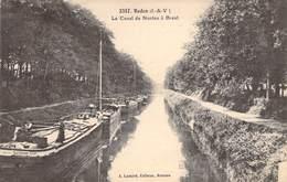 """CPA FRANCE 35 """"Redon, Le Canal De Nantes à Brest"""" - Redon"""