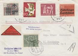 Remboursement Nachnahme Kirchheim Bez. Kassel Nach Wiesbaden 1963 - Brieven En Documenten