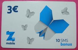 Kosovo Prepaid Phonecard, 3 Euro. Operator ZMOBILE *Butterfly*, Serial # 7....... - Kosovo
