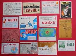 RARE Espagne Espana Spain Lot De 52 Cartes Radio-Amateur Radio Card Tarjetas De Radio-Ammateur Bont état & Catalogne - Mappe