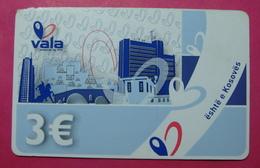 Kosovo Prepaid Phonecard, 3 Euro. Operator VALA *Capital City Pristina, Butterfly*, Serial # 14....... - Kosovo