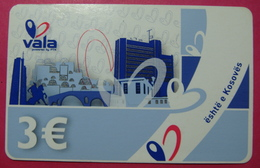 Kosovo Prepaid Phonecard, 3 Euro. Operator VALA *Capital City Pristina, Butterfly*, Serial # 13....... RARE - Kosovo