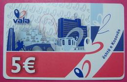Kosovo Prepaid Phonecard, 5 Euro. Operator VALA *Capital City Pristina, Butterfly*, Serial # 15....... RARE - Kosovo