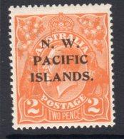 New Guinea 1922 NWPI 2d Orange GV Head, Hinged Mint, SG 121 (C) - Papua New Guinea