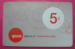 Kosovo Prepaid Phonecard, 5 Euro. Operator IPKO *Bubbles*, Serial # 3...... - Kosovo