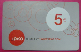 Kosovo Prepaid Phonecard, 5 Euro. Operator IPKO *Bubbles*, Serial # 4...... - Kosovo