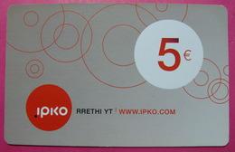 Kosovo Prepaid Phonecard, 5 Euro. Operator IPKO *Bubbles*, Serial # 7...... - Kosovo