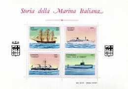 ERINNOFILIA / Storia Della Marina Italiana A Colori - Vignetten (Erinnophilie)
