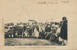 28 Addis Abbeba L' Empereur Menelik Et Les Ministres Européens  Edir A.M. Photo De 1908 - Ethiopia