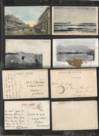 S. Africa Church St Pretori, SandHills E. London, Silver Leaf Table Mountain, Algoa Bay 4 Cards, Used & Mutilated - South Africa