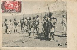"""Afars CP """" Julia """" Publiée Par E.H. Schrenzel Addis Abeba.  Timbre Somali Guerriers . Non Voyagé - Ethiopia"""