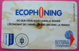 French Army In Kosovo Prepaid Phonecard. Operator ECOPHONING *KFOR*, Serial # 829...... - Kosovo