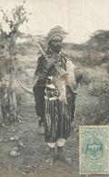 Real Photo Guerrier  Un Brave Et Farouche Soldat De L' Empeur Ménélik - Ethiopië