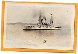Battleship Lemnos 1930 Real Photo Postcard - Greece