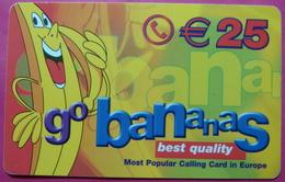 German Army In Kosovo Prepaid Phonecard 25 Euro. Operator GO BANANAS *Banana*, Serial # 200......RRRRR - Kosovo