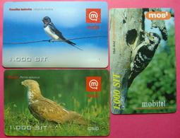 Slovenia Lot Of 3 Prepaid Phonecards - Slovenia