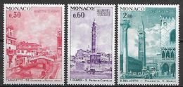 MONACO    -    1972 .   Y&T N° 887 à 889 **.   UNESCO   /  Sauvegarde De Venise.  Série Complète. - Monaco