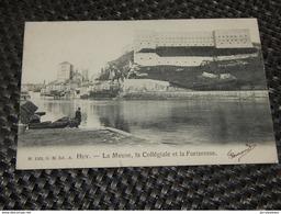 HUY  - La Meuse , La Collégiale Et La Forteresse - Huy
