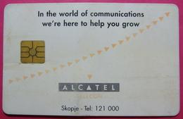 Macedonia CHIP Phonecard, ALCATEL, NO Units - Macédoine