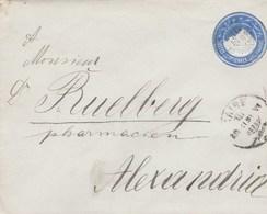 Postal Stationary Cover Pyramide Alexandrie - 1866-1914 Khedivaat Egypte
