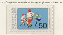 PIA - GERMANIA - 1975 : Campionati  Del Mondo Di Hockey Su Ghiacio  -  (Yv 684) - Hockey (su Ghiaccio)