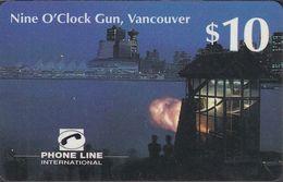 Canada - Phone Line - Vancouver - Nine O`Clock Gun , 10$ - Canada