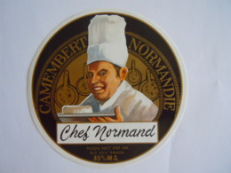 Etiket Etiquette Camembert Chef Normand 45% - Fromage