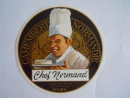 Etiket Etiquette Camembert Chef Normand 45% - Kaas