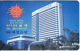 SOUTH KOREA - Sole Night Club, Grand Hotel Hae Un Dae(W2000), CN : MCPF9611, Used - Korea, South