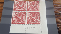 LOT 462120 TIMBRE DE FRANCE NEUF** LUXE N°54 COIN DATE - Poste Aérienne