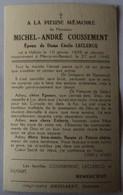 Halluin - Annapes - Marcq En Baroeuil: Image Mortuaire COUSSEMENT Michel André (X LECLERCQ Cécile) - Décès