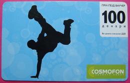 Macedonia  Prepaid Phone Card, Operator: COSMOFON. Used - Macedonia