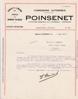 51-Poinsenet..Garage De La Marne..Carrosserie Automobile...Epernay..(Marne)...1933 - Cars