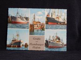 Germany Grusse Vom Hamburger Hafen__(U-1379) - Bateaux