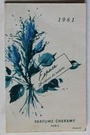 Calendrier 1961 Parfums Cheramy Paris Coiffeur Bernadette 35 Rue D'Orléans Trouville - Calendriers