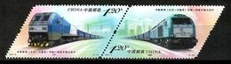China 2019 / Trains Railways Locomotives Joint Issue Spain MNH Trenes Emisión Conjunta España Züge / Cu14102  C5-21 - Trenes