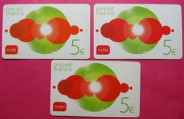 Montenegro Lot Of 3 Prepaid Phone Cards, Operator M : TEL - Montenegro